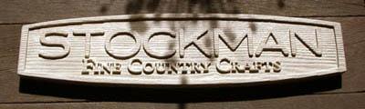 レトロな本物ロゴサイン木製看板制作 stockman fine country crafts